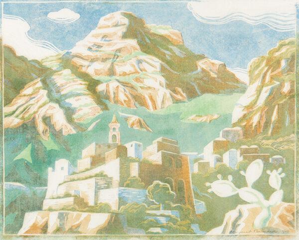 BARNARD Margaret (1900-1992) - Mountain Village.