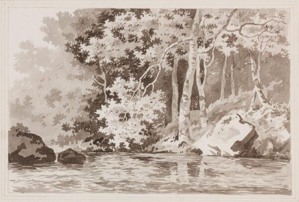 BARRET George Snr (1732-1784) - A woodland pool.