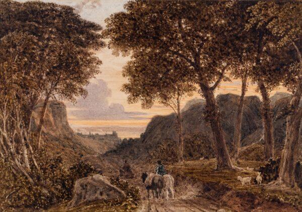 BARRET George Jnr (1767-1842) - Capriccio: Dusk.