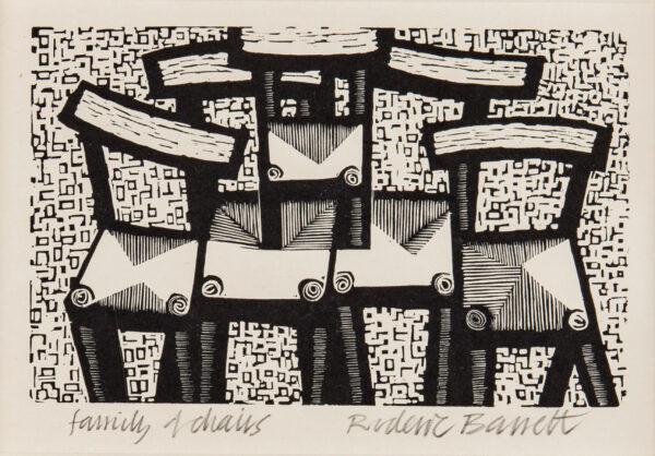 BARRETT Roderic (1920-2000) - 'Family of Chairs'.