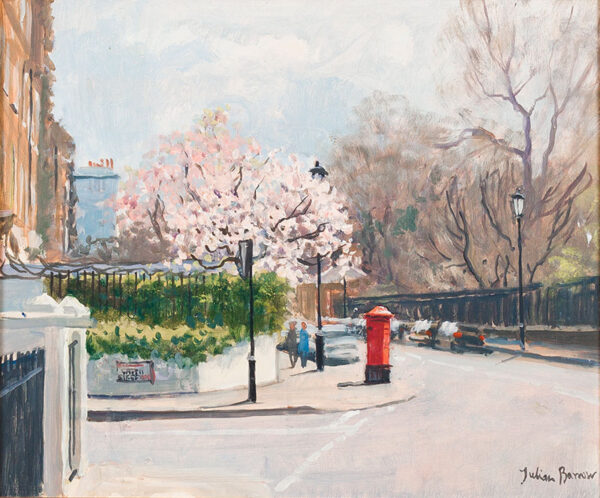 BARROW Julian (1939-2013) - Spring comes to St Leonards Terrace, Chelsea.
