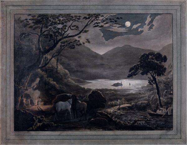 BARROW Joseph Charles (Exhibited from 1789, d. 1804) - Moonlit capriccio.