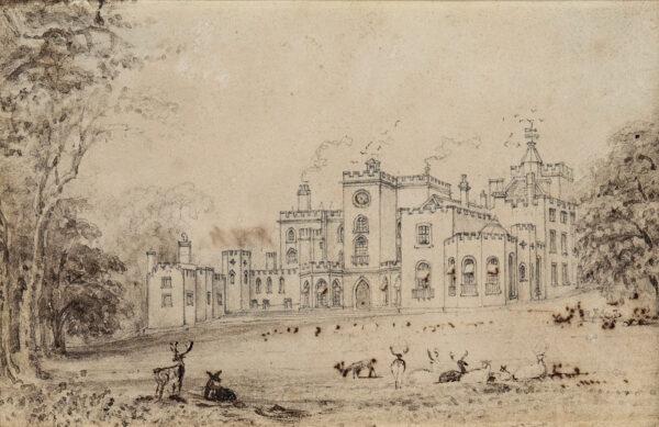 BARTLETT William Henry (1809-1854) - Powderham Castle, Devon.