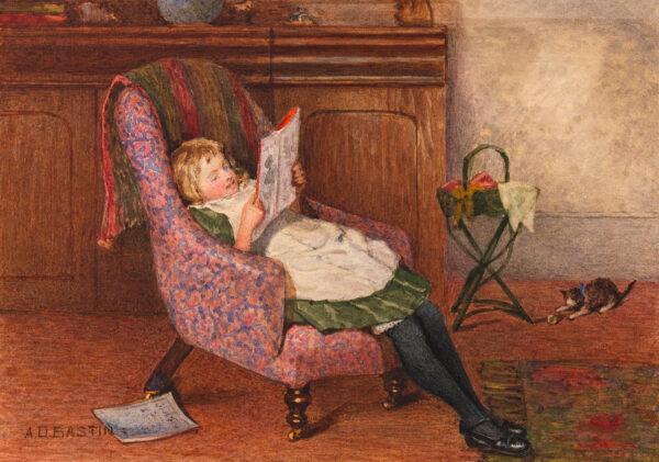 BASTIN Arthur Dickman (1849-1913) - 'Taking it easy'.