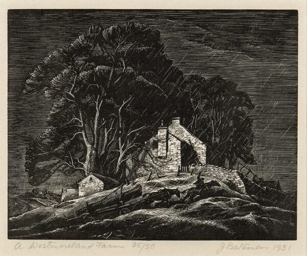 BATEMAN James R.A. (1893-1959) - 'A Westmoreland Farm'.