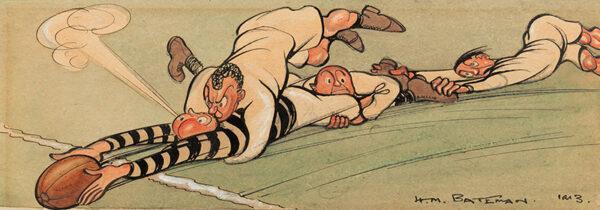 BATEMAN Henry Mayo (1887-1970) - 'Rugby Downs!'.