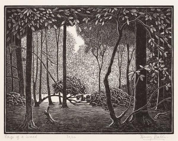 BATES Henry Edward (Exh: 1926-1939) - ' Edge of a Wood'.