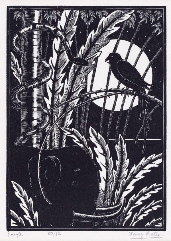 BATES Henry Edward (Exh: 1926-1939) - 'Jungle'.