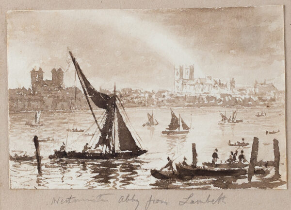 BATTY Lieutenant-Colonel RobertF.R.S. (1789-1848) - 'Westminster Abbey from Lambeth'.
