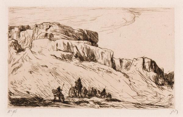 BAUER Marius (1867-1932) - 'Indian Mountains'.