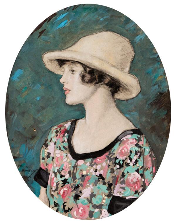 BAUMER Lewis R.I. P.S. (1870-1963) - 'The Chintz Dress'.