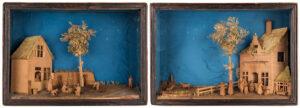 BAVELAAR Cornelius (1747-1830) / Cornelius Bavelaar Jnr (1777-1831) - A pair of farmyard Dioramas.