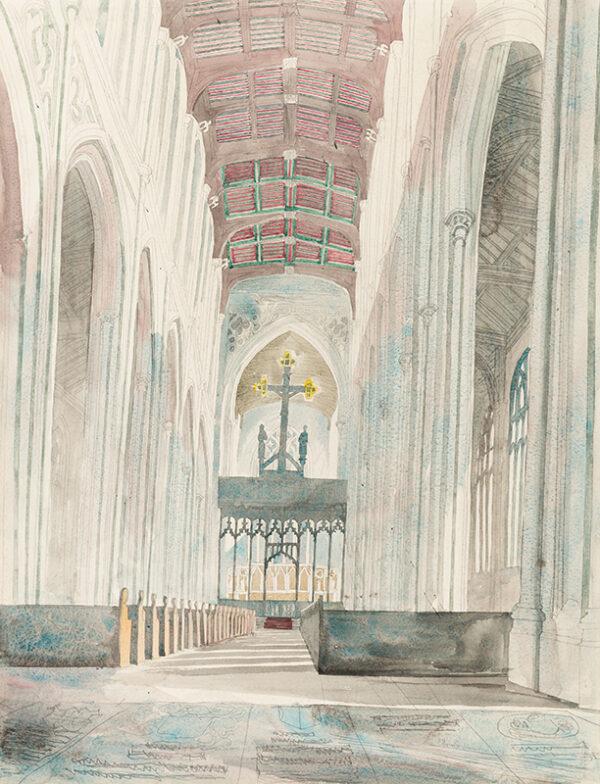 BAWDEN Edward C.B.E. R.A. (1903-1989) - 'Saffron Walden Church V'.