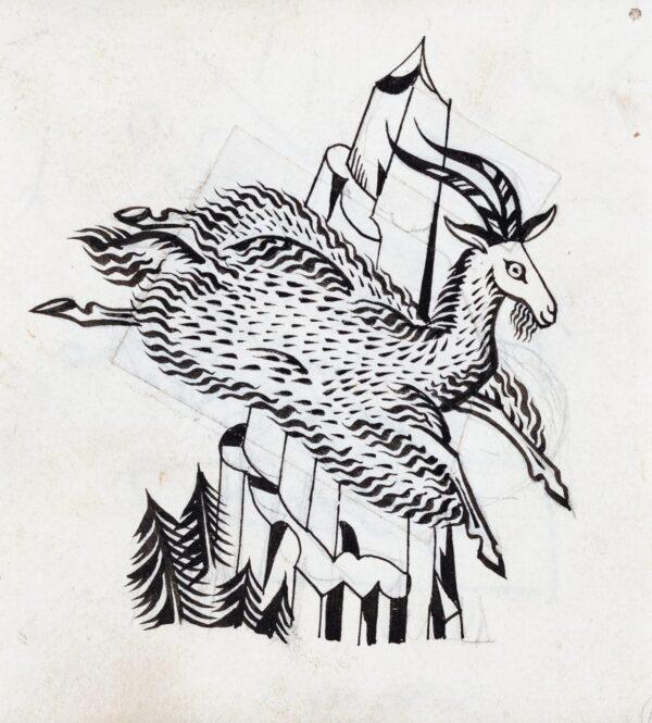 BAWDEN Edward R.A. (1903-1989) - 'A Flying Goat.