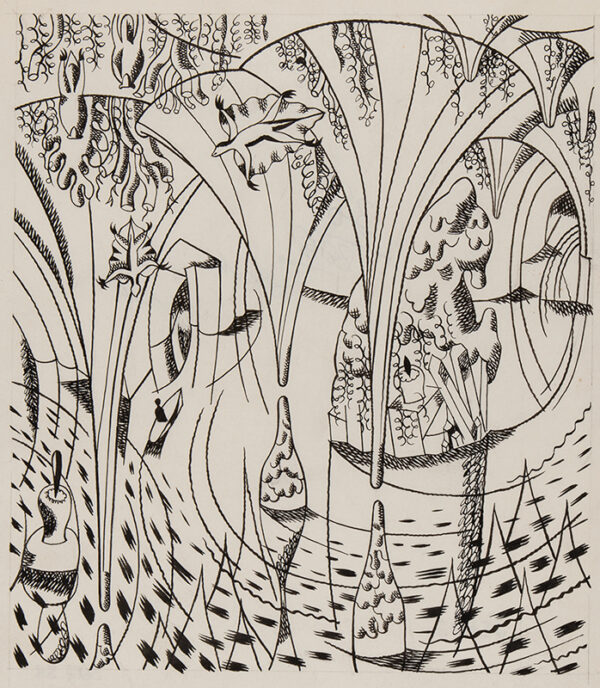 BAWDEN Edward C.B.E. R.A. (1903-1989) - 'Peter Wilkins lost in the Grotto'.