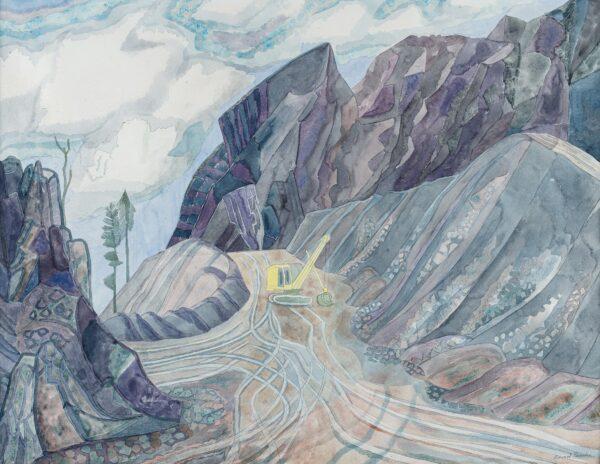 BAWDEN Edward C.B.E. R.A. (1903-1989) - 'Quarry at Pengwern, II, Llanwrst'.