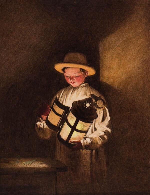 BAYNES Frederick Thomas (1824-1874) - Lantern light.