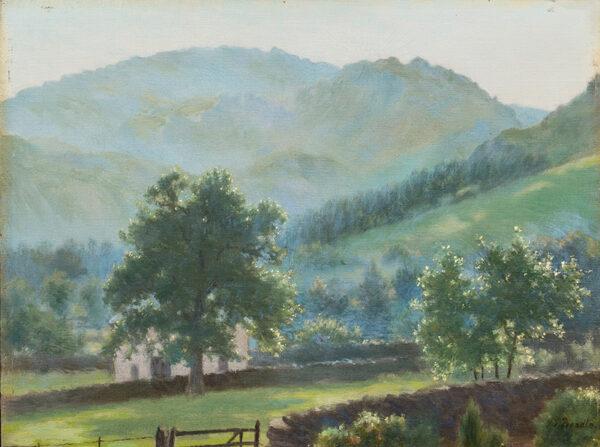 BEADLE James Prinsep (1863-1947) - 'In the Lake District at Grasmere'.