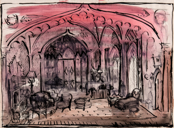 BEATON Sir Cecil C.B.E. (1904-1980) - Gothick Interior: Stage Set.