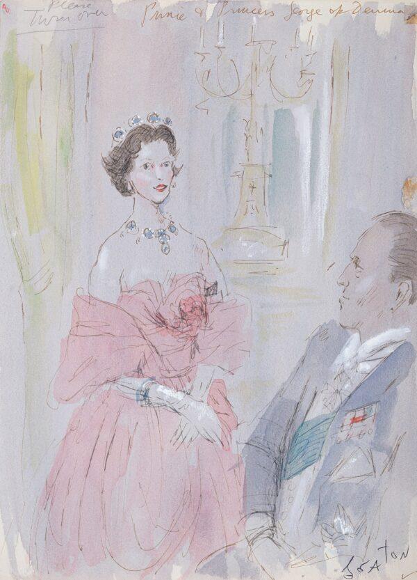 BEATON Sir Cecil C.B.E. (1904-1980) - 'Prince and Princess George of Denmark'.