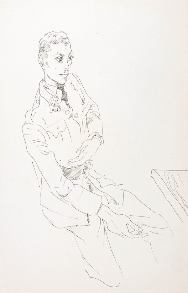 BEATON Sir Cecil C.B.E. (1904-1980) - Study of a young Officer.