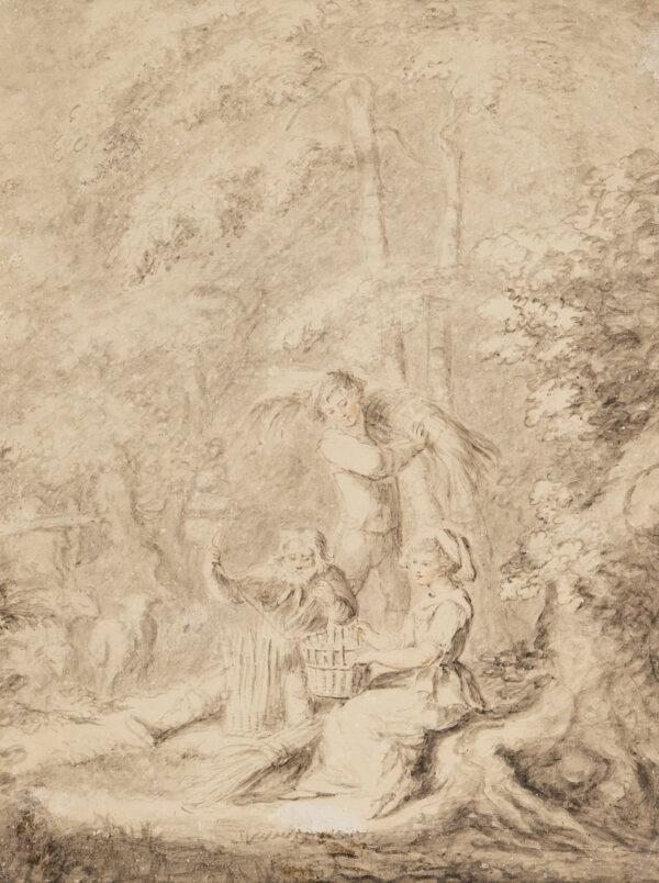 BEAUCLERK Lady Diana (1734-1808) - 'The Basket Weavers'.