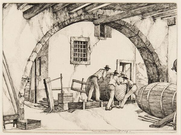 BEAUMONT Leonard (1891-1986) - 'The Wine Cask'.