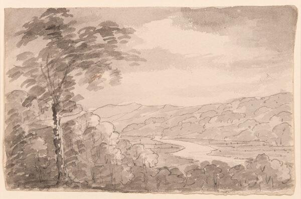 BEAUMONT Sir George (1753-1827) - River landscape.
