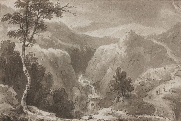 BECKER Ferdinand (Ex. Edmund) (fl.1790-1810) - 'The Fall of the River Rheidol, 1808'.
