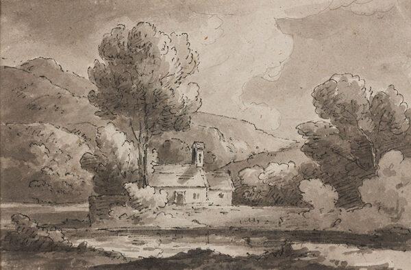 BECKER Ferdinand (Ex. Edmund) (fl.1790-1810) - Chapel 'At Capel Curig 1811'.