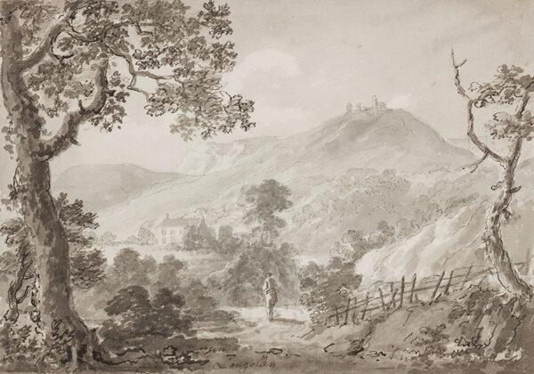 BECKER Ferdinand (Ex. Edmund) (fl.1790-1810) - 'Langollen'.