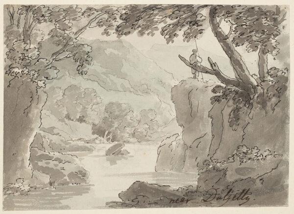 BECKER Ferdinand (Ex. Edmund) (fl.1790-1810) - 'Nr Dolgelly' Pen, brush and ink.