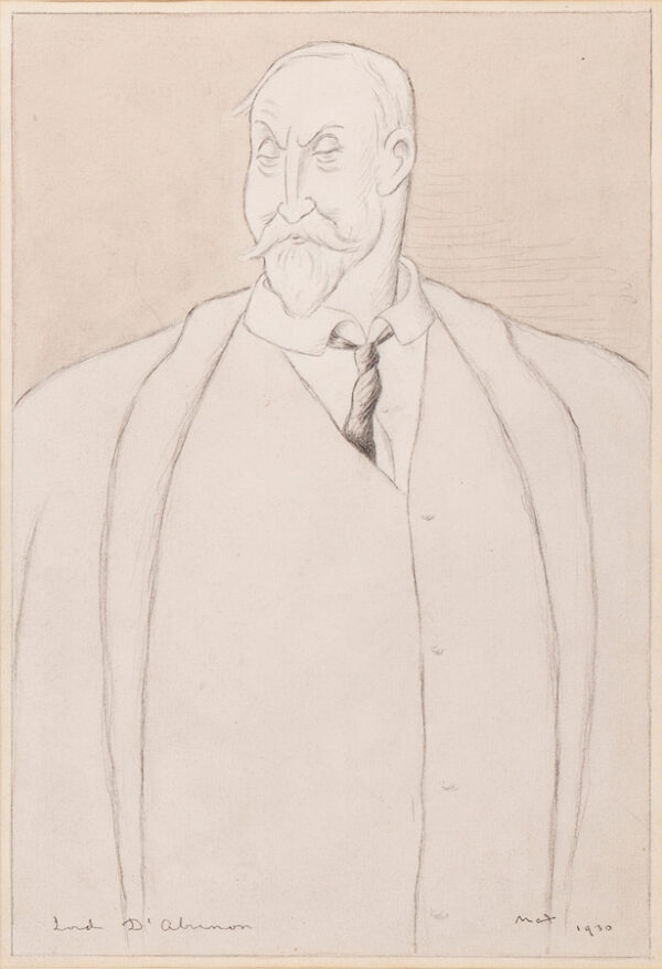 BEERBOHM Sir Max N.E.A.C (1872-1956) - 'Lord D'Abernon', (1st Viscount D'Abernon GCB,GCMG, PC, FRS 1857-1941) '…the pioneer of appeasement'.
