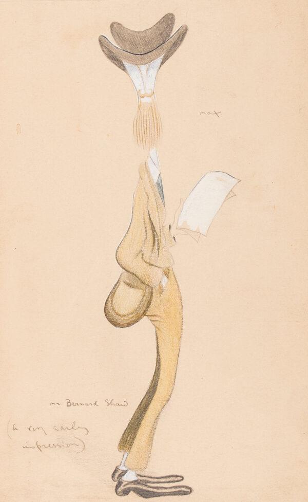 BEERBOHM Sir Max N.E.A.C (1872-1956) - 'Mr Bernard Shaw / (a very early impression)' (RHD.