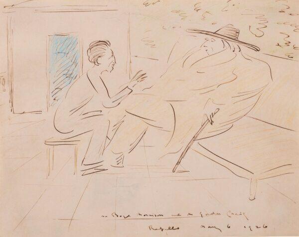 BEERBOHM Max (1872-1956) - 'Mr Boyd Morrison and Mr Gordon Craig / Rapallo'.