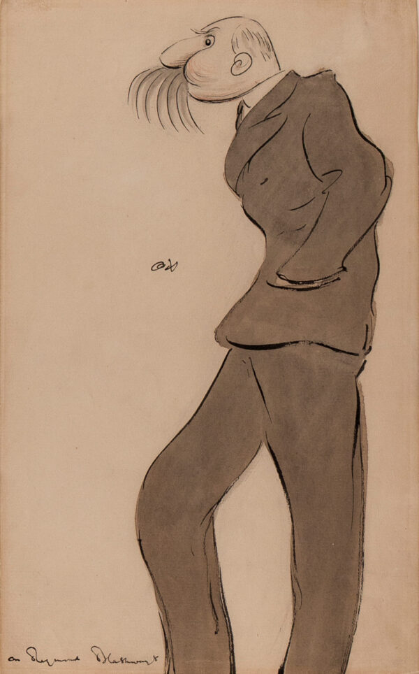 BEERBOHM Sir Max N.E.A.C (1872-1956) - 'Mr Raymond Blathwayt' (1855-1935) Actor.