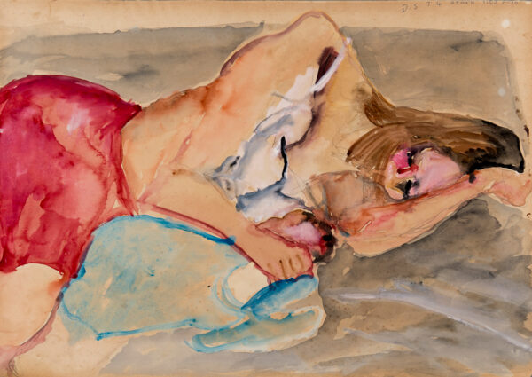 BEHRENS Tim (1937-2007) - The artist's model, and future wife.