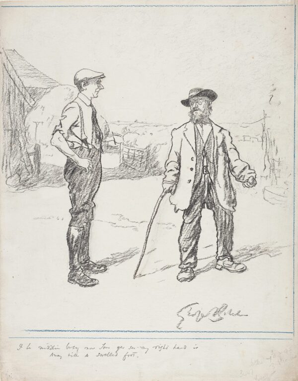 BELCHER George R.A. (1875-1947) - 'I be middlin busy now Tom yer see – my right hand is away with a swelled foot'.