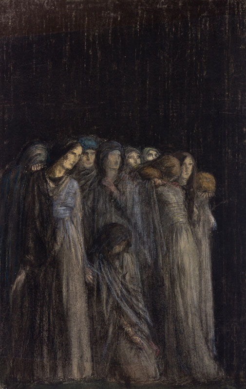 BELL Robert Anning R.A. R.W.S. (1863-1933) - 'The Women Stood Afar Off Beholding These Things'.