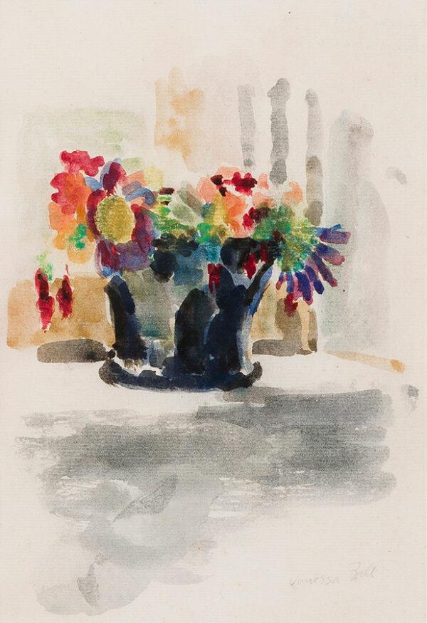 BELL Vanessa L.G. (1879 - 1961) - 'Asters in black vase'.