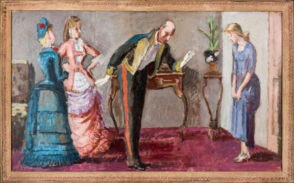 BELL Vanessa L.G. (1879 - 1961) - 'Cinderella puts on the shoe'.