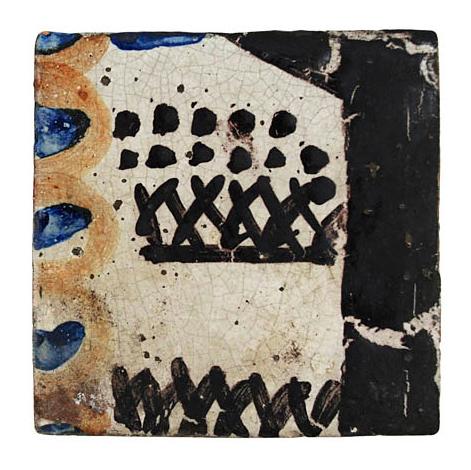 BELL Vanessa L.G. (1879 - 1961) - Nine glazed, hand painted tiles.