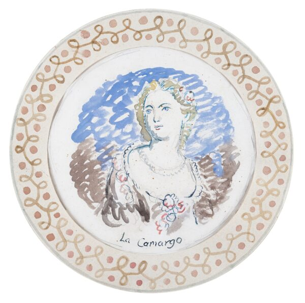 BELL Vanessa L.G. (1879 - 1961) - 'La Camargo': a design for the 'Famous Women Dinner Service', commissioned by Kenneth and Jane Clark (the finished plate is currently on view at Charleston).