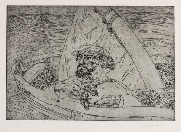 BELLANY John C.B.E. R.A. (1942-2013) - 'The Old Man and the Sea'.