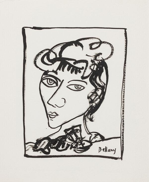 BELLANY John C.B.E. R.A. (1942-2013) - Head of a Girl.
