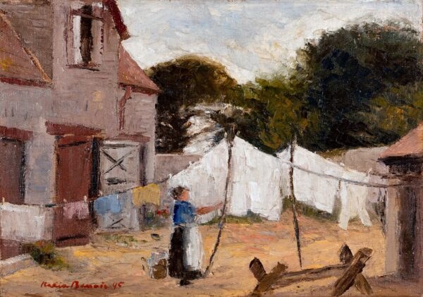 BENOIS Nadia (1896-1974) - Farm Yard, Normandy.