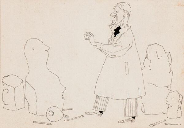 BENTLEY Nicolas (1907-1978) - 'The Sculptor'.