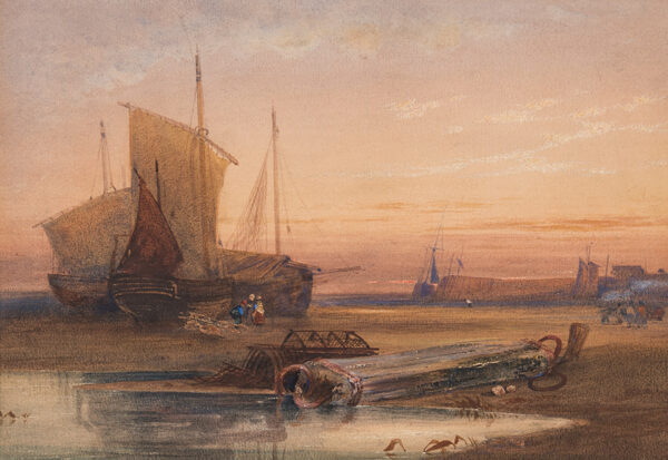 BEVERL(E)Y William Roxy (1811-1889) - Harbour at dawn.