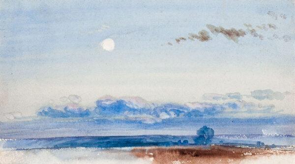 BEVERL(E)Y William Roxy (1811-1889) - 'Moonrise'.