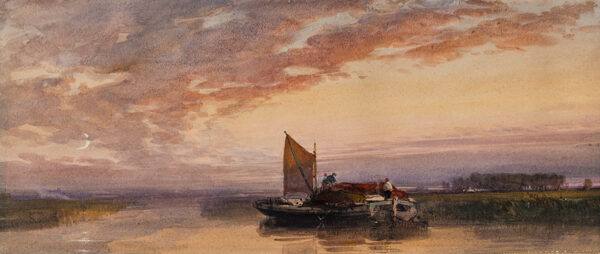 BEVERL(E)Y William Roxy (1811-1889) - A crescent moon – sunset.